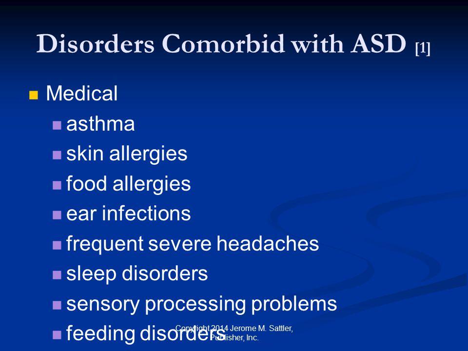Disorders Comorbid with ASD [1]